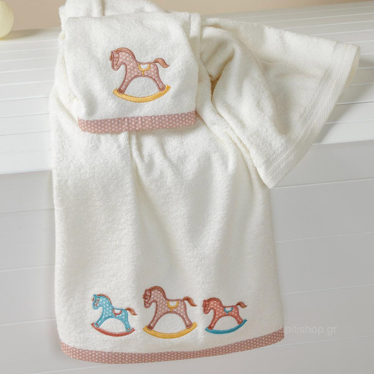 Βρεφικές Πετσέτες (Σετ 2τμχ) Kentia Baby Carousel