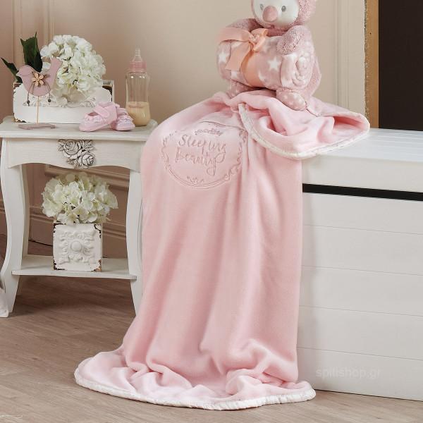 Κουβέρτα Βελουτέ Αγκαλιάς Kentia Baby Beauty