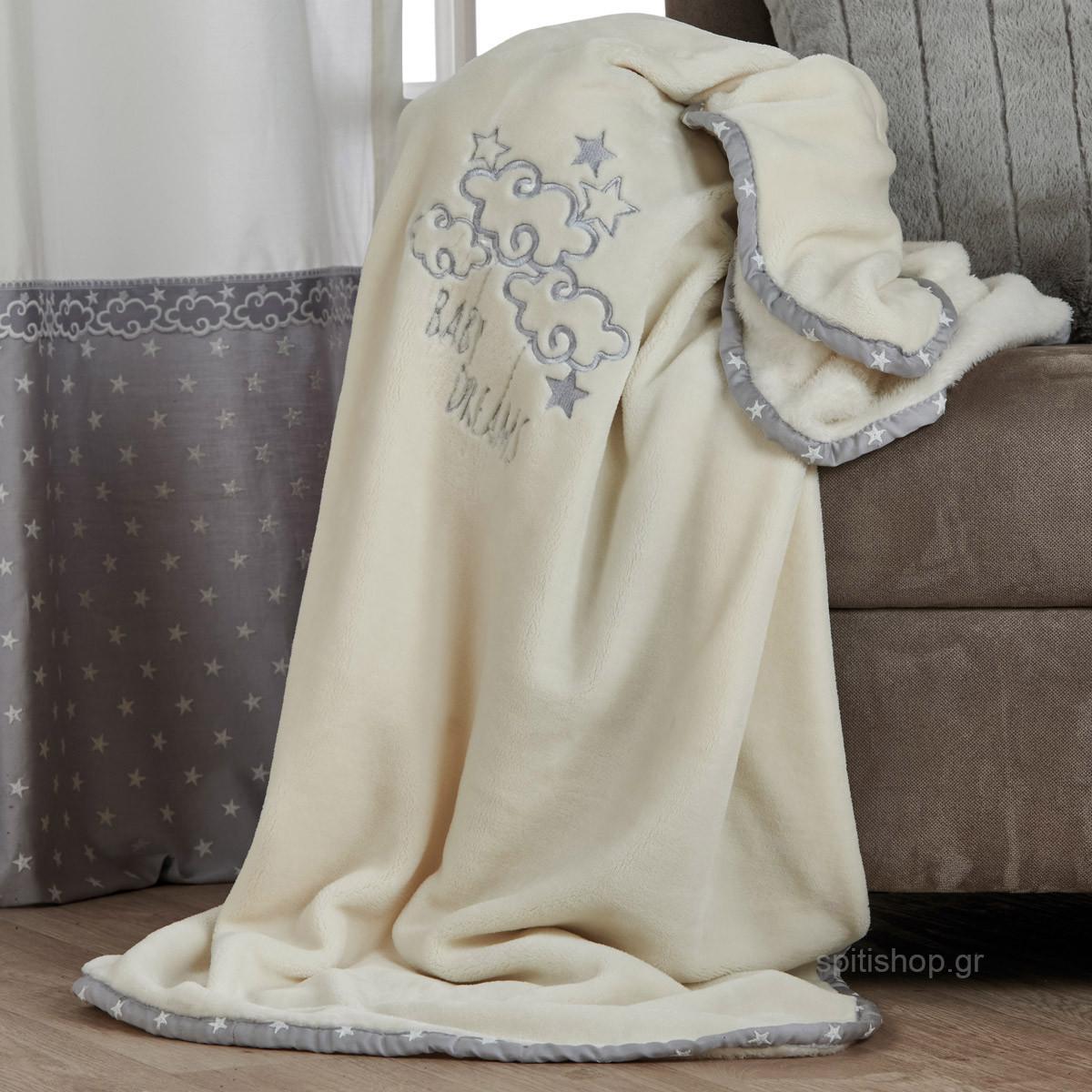 Κουβέρτα Βελουτέ Αγκαλιάς Kentia Baby Baby Dream