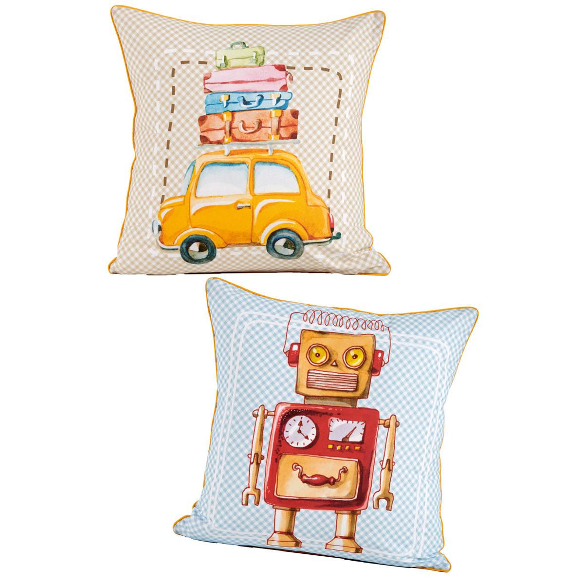 Διακοσμητική Μαξιλαροθήκη 2 Όψεων Kentia Kids Twister home   παιδικά   διακοσμητικά μαξιλάρια παιδικά