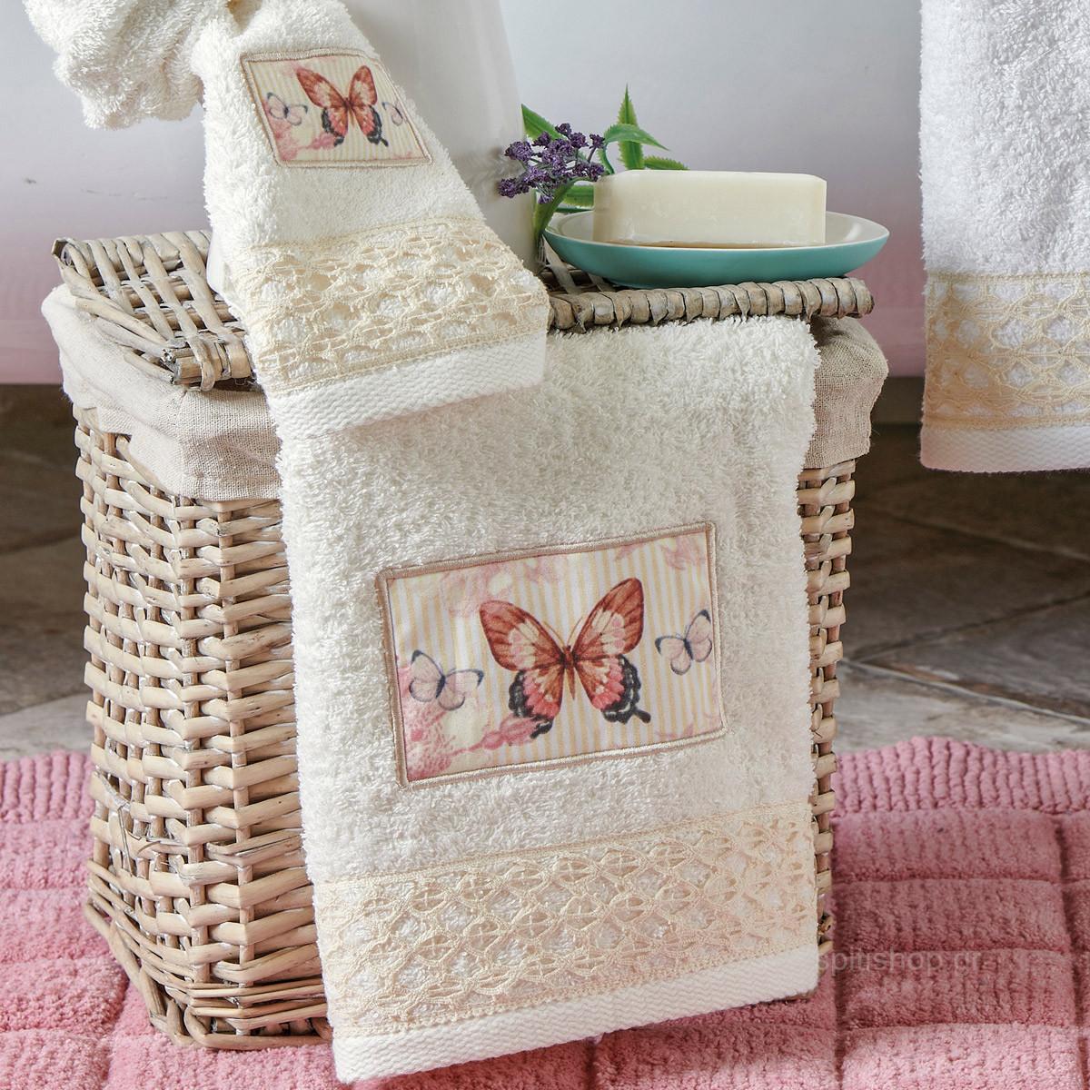 Πετσέτες Μπάνιου (Σετ 3τμχ) Kentia Bath Gioia 12
