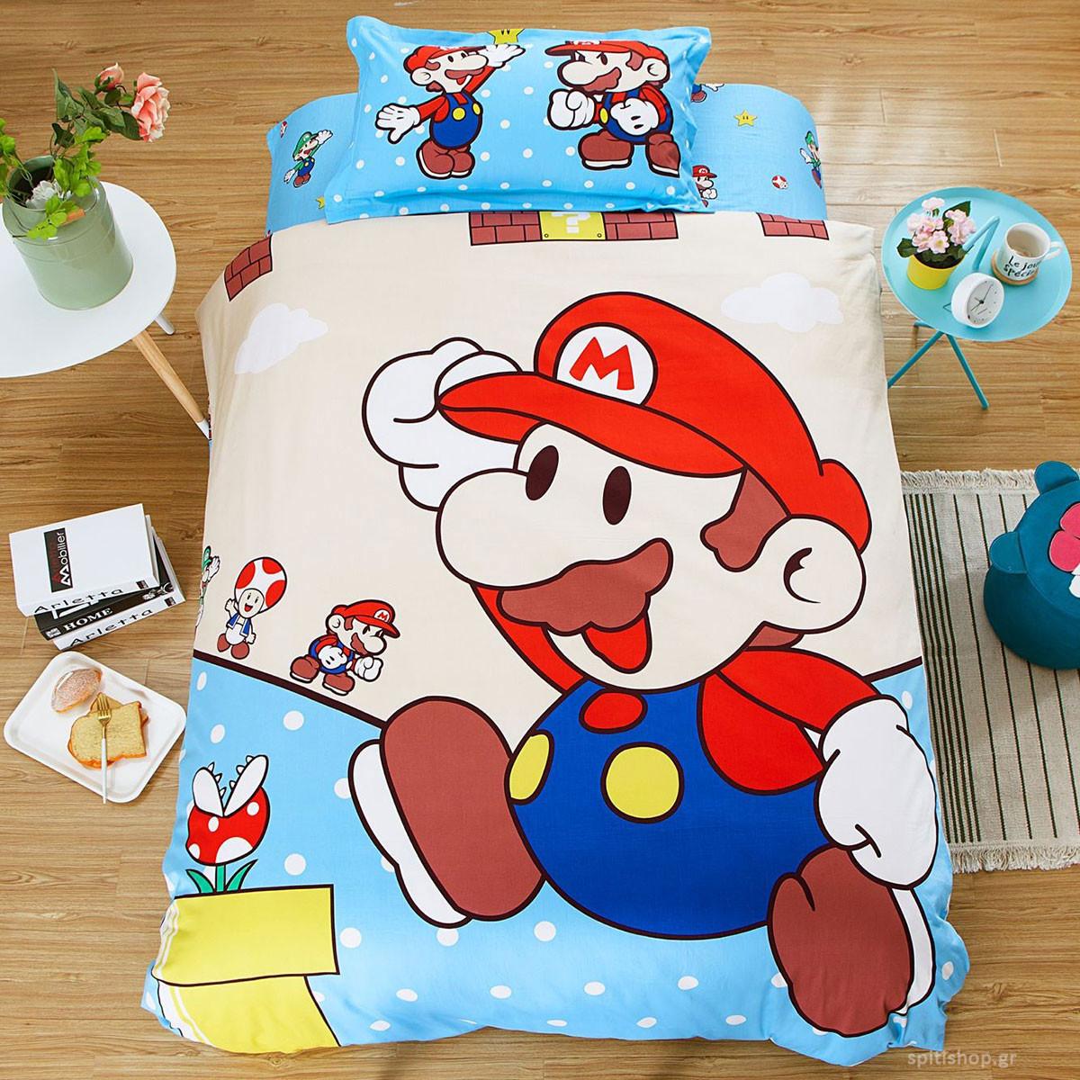 Σεντόνια Μονά (Σετ) MC Decor Kids Super Mario 4907