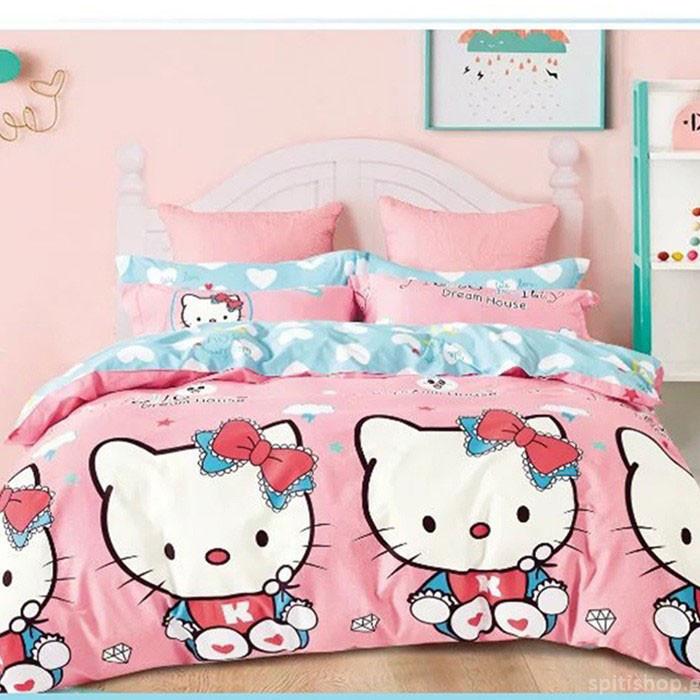 Παπλωματοθήκη Μονή (Σετ) MC Decor Kids Kitty Dream