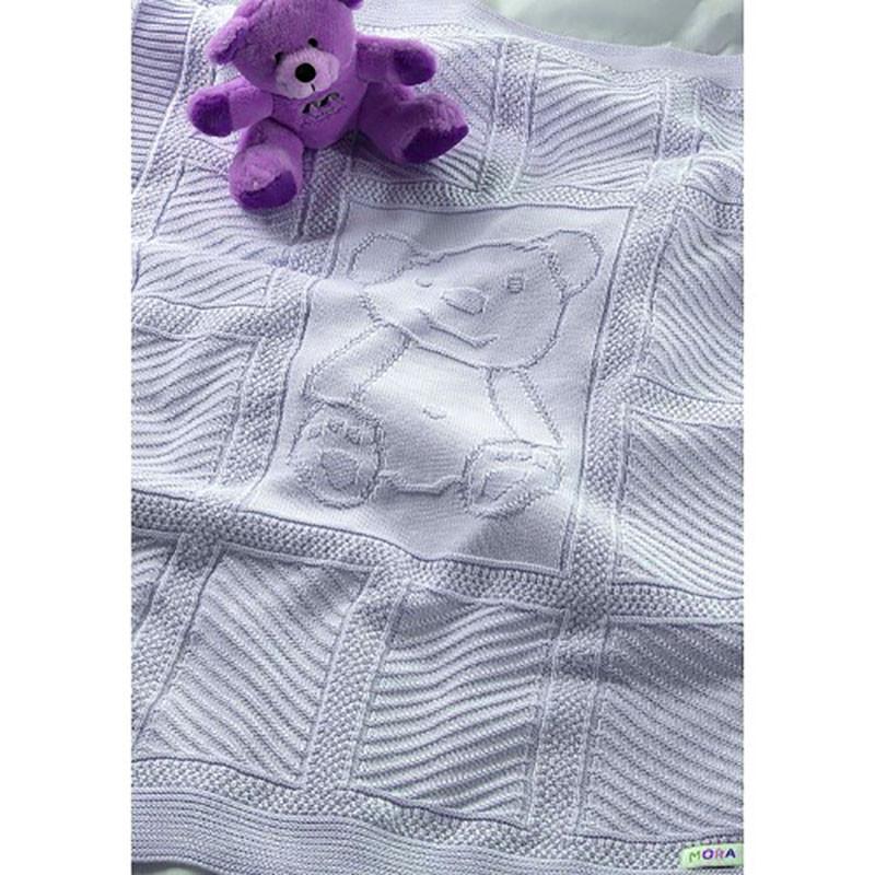 Κουβέρτα Πλεκτή Αγκαλιάς Morven Haley 817 Blue