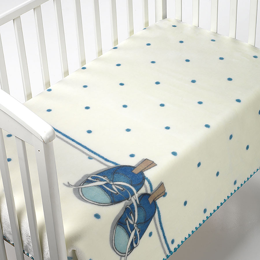 Κουβέρτα Βελουτέ Κούνιας Morven Kidz B51 Blue