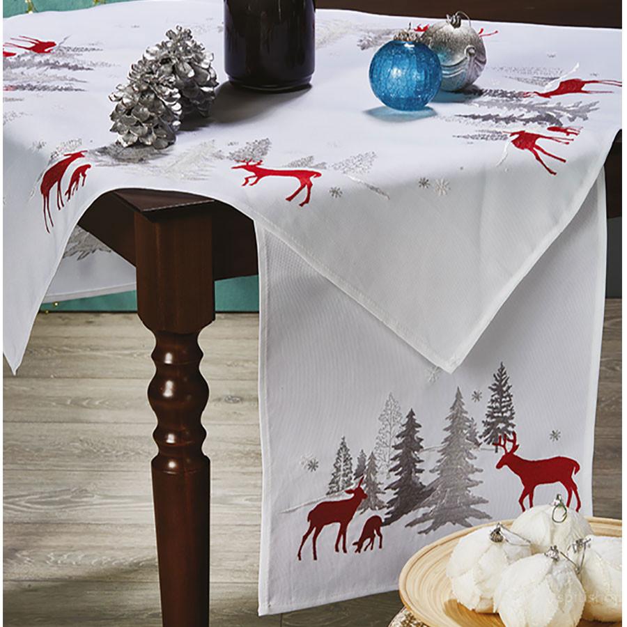 Χριστουγεννιάτικη Τραβέρσα White Egg 16518/3