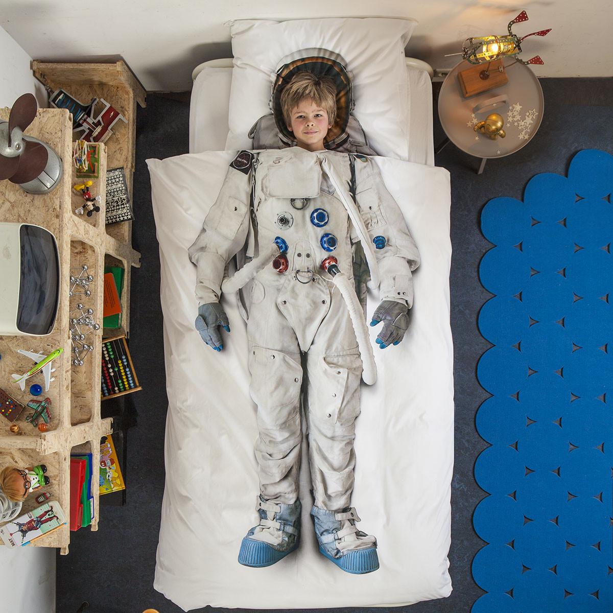 Παπλωματοθήκη Μονή (Σετ) Snurk Astronaut