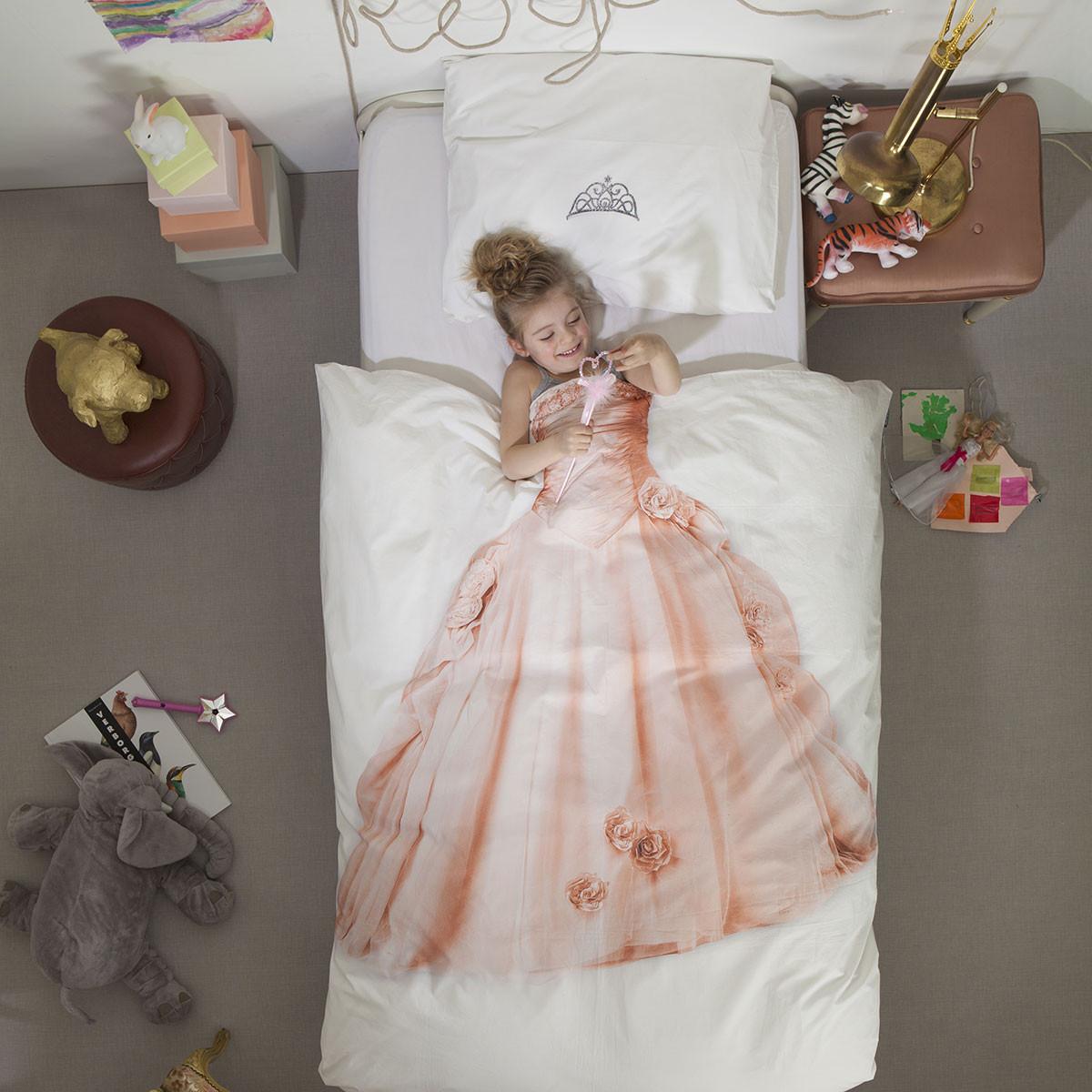 Παπλωματοθήκη Μονή (Σετ) Snurk Princess Pink