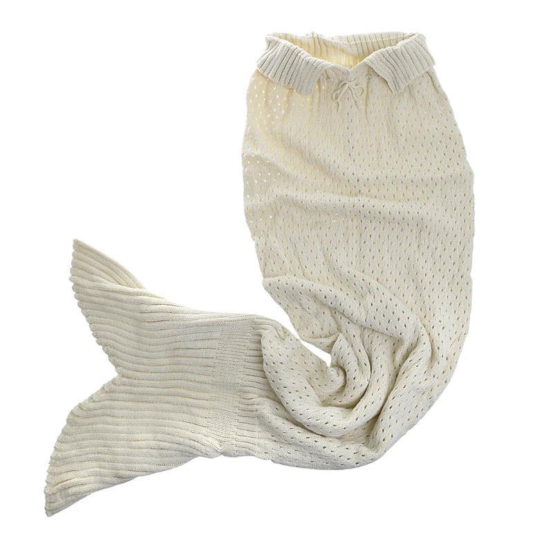 Κουβέρτα Γοργόνα Πλεκτή CL Mermaid Ecru 6-40-165-0002