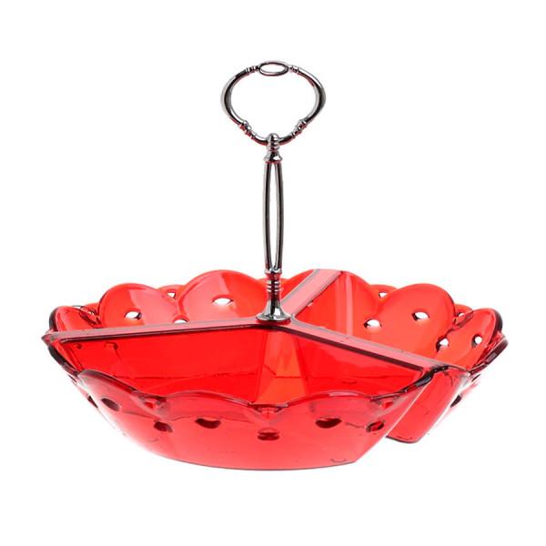 Ορντεβιέρα Σερβιρίσματος 3 Θέσεων CL Acrylic Red 6-60-010-0027