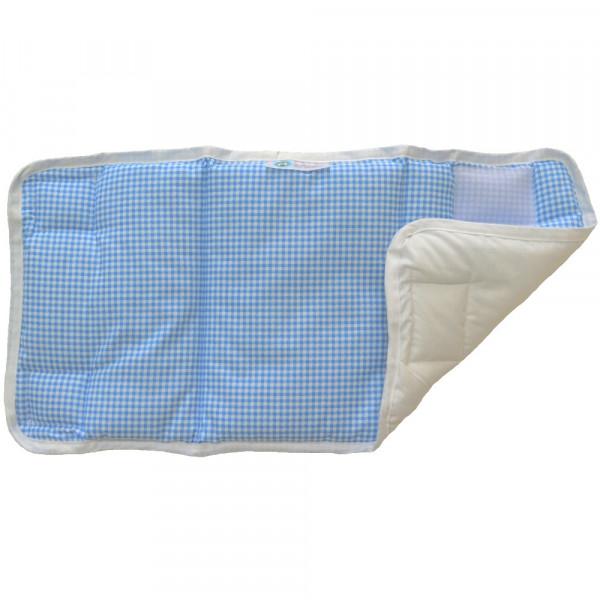Προστατευτικά Για Κάγκελα Κούνιας 4τμχ Κόσμος Του Μωρού 7050 Καρό Μπλε