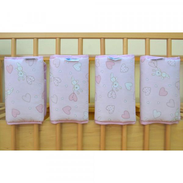 Προστατευτικά Για Κάγκελα Κούνιας 4τμχ Κόσμος Του Μωρού 7050 Hearts Ροζ