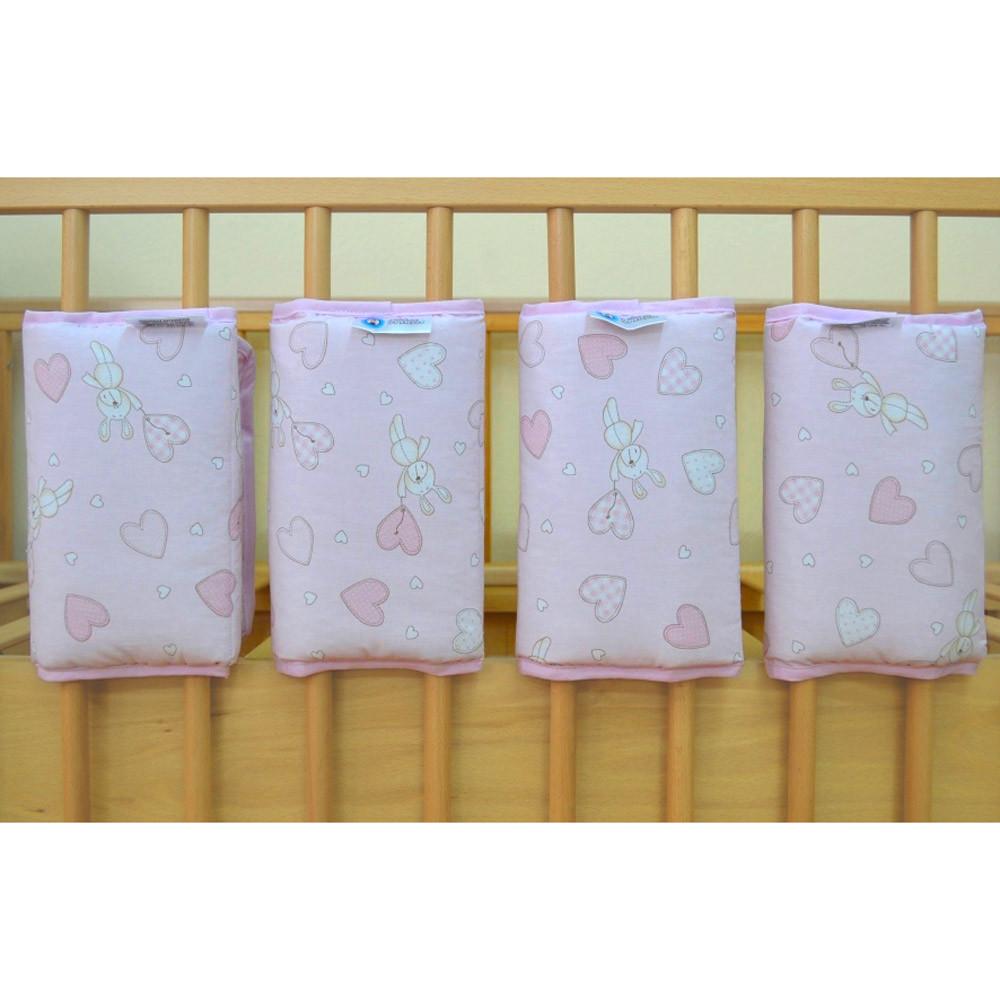 Προστατευτικά Κούνιας 4τμχ Κόσμος Του Μωρού 7050 Hearts Ροζ home   βρεφικά   πάντες βρεφικές