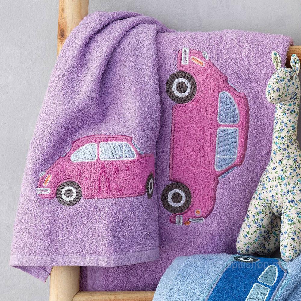Βρεφικές Πετσέτες (Σετ 2τμχ) Palamaiki Car Lilac