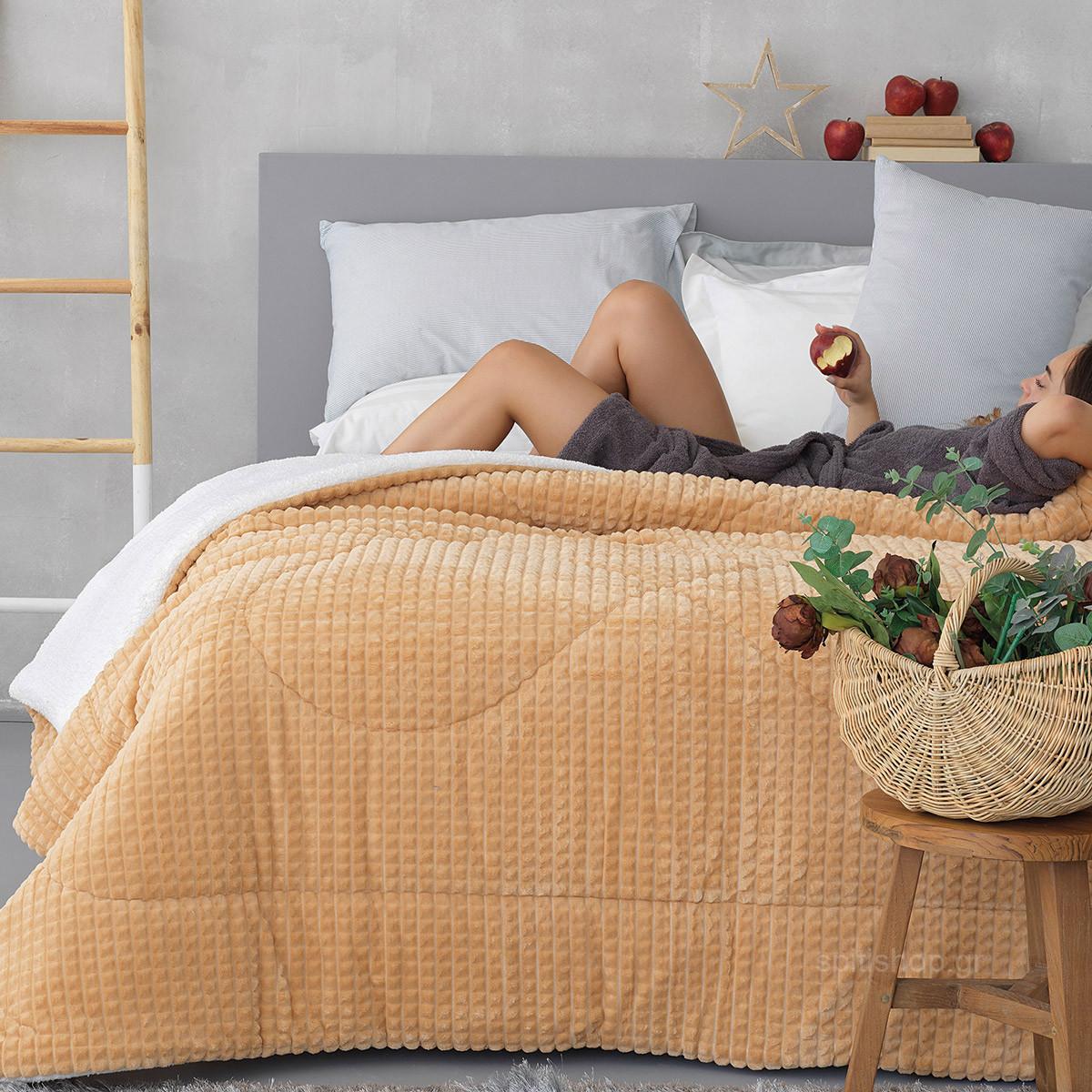 Κουβερτοπάπλωμα Υπέρδιπλο Palamaiki Cube Sand home   κρεβατοκάμαρα   παπλώματα   κουβερτοπαπλώματα