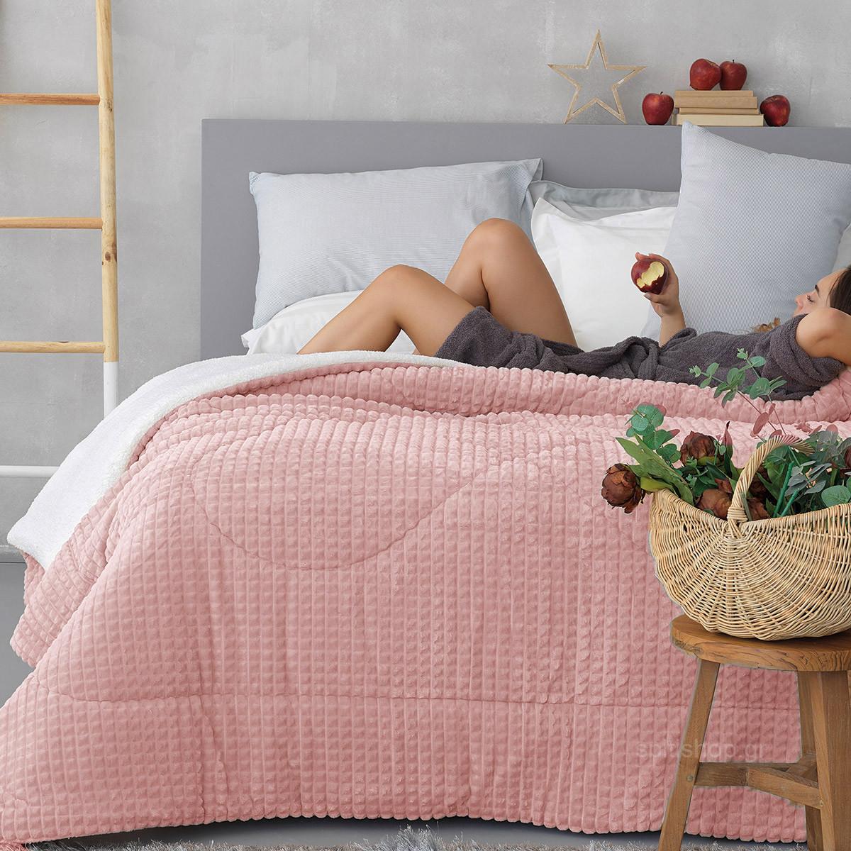Κουβερτοπάπλωμα Υπέρδιπλο Palamaiki Cube Pink home   κρεβατοκάμαρα   παπλώματα   κουβερτοπαπλώματα