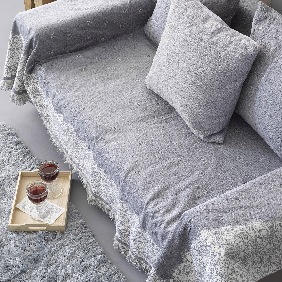 Ριχταρι Διθέσιου (180×250) Palamaiki Mimoza Grey
