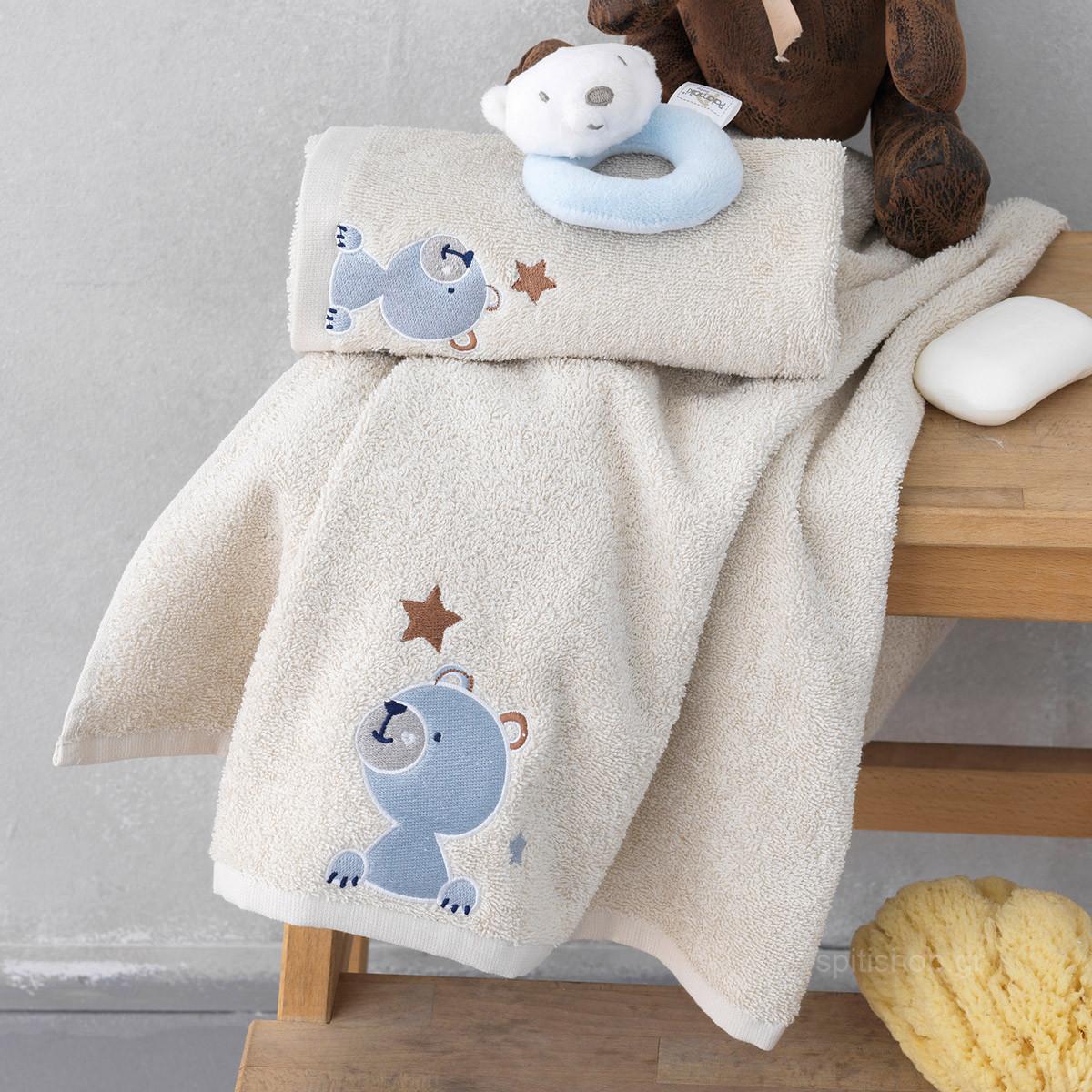 cc3edd3215c -10% Spiti Shop Βρεφικές Πετσέτες (Σετ 2τμχ) Palamaiki Bear