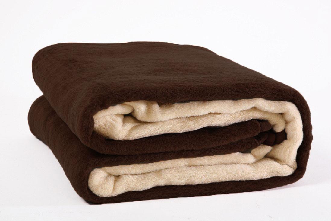 Κουβέρτα Ακρυλική Μονή Viopros Bicolor Beige-Choco