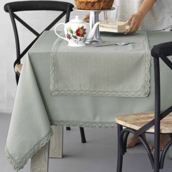 Τραπεζομάντηλο (140x180) Palamaiki Kitchen Lace Green