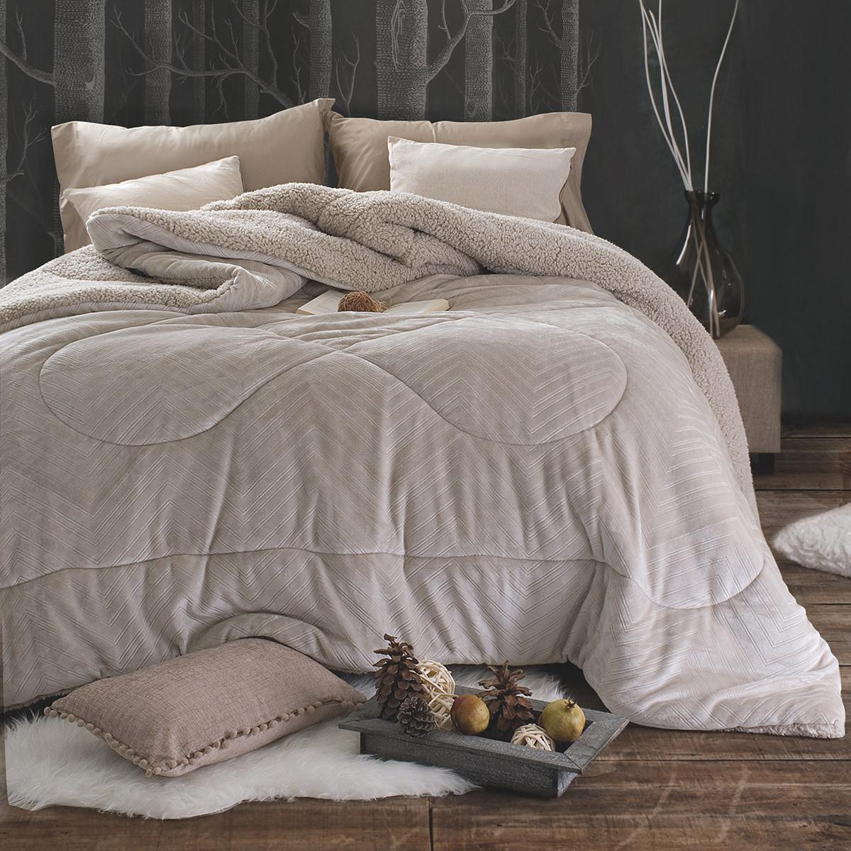 Κουβερτοπάπλωμα Υπέρδιπλο Rythmos Amity 01 Grey home   κρεβατοκάμαρα   παπλώματα   κουβερτοπαπλώματα