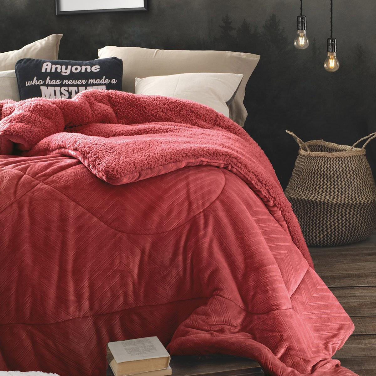 Κουβερτοπάπλωμα Υπέρδιπλο Rythmos Amity 02 Red home   κρεβατοκάμαρα   παπλώματα   κουβερτοπαπλώματα