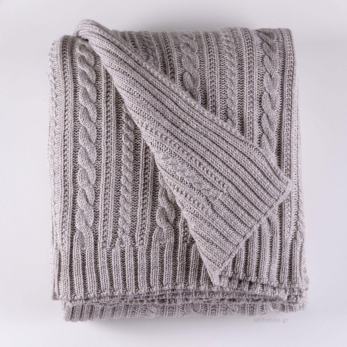 Κουβέρτα Πλεκτή Μονή Rythmos Henna