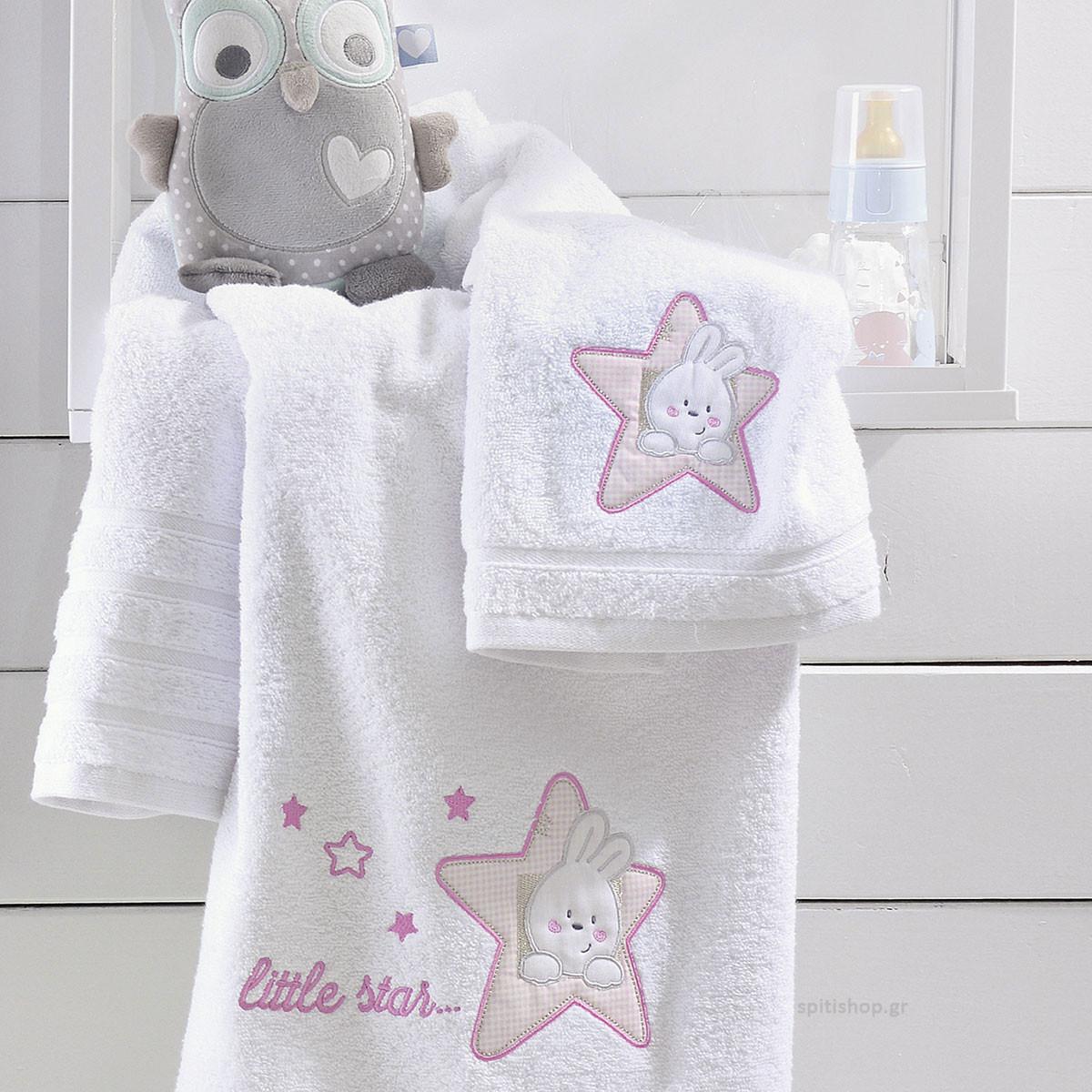 Βρεφικές Πετσέτες (Σετ 2τμχ) Rythmos Astro Pink