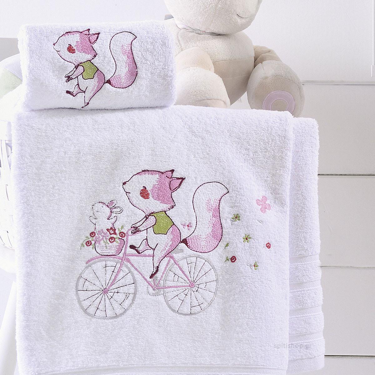 Βρεφικές Πετσέτες (Σετ 2τμχ) Rythmos Clunny Pink