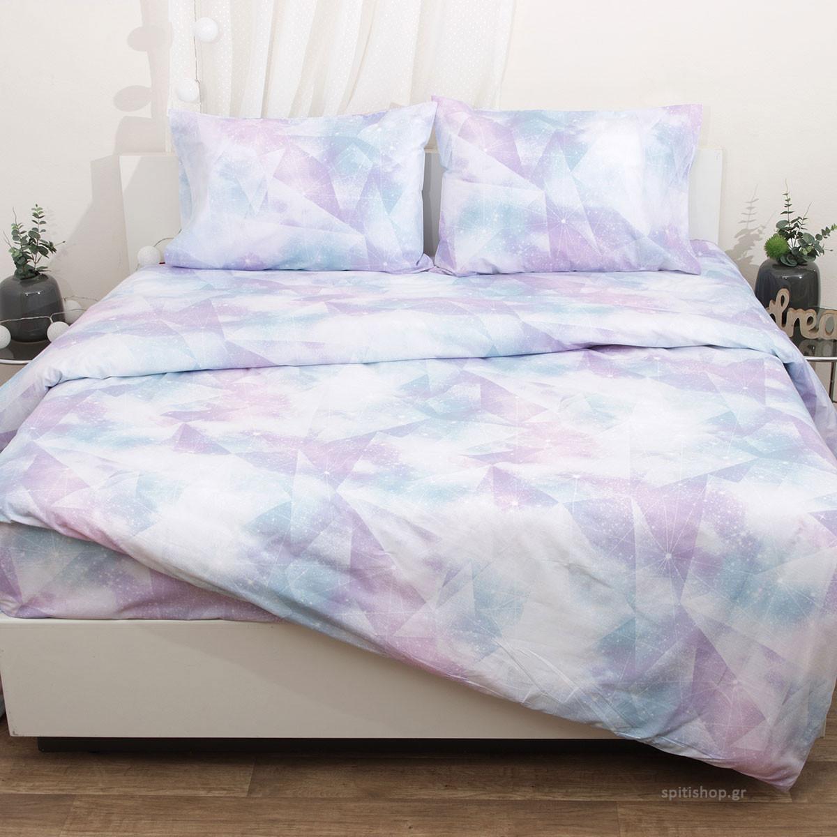 Σεντόνια Ημίδιπλα (Σετ) Viopros Fresh Γκάλαξυ home   κρεβατοκάμαρα   σεντόνια   σεντόνια ημίδιπλα   διπλά