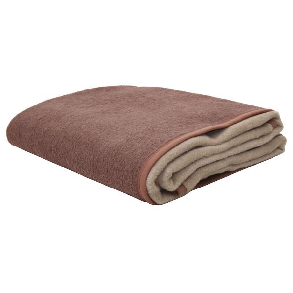 Κουβέρτα Ακρυλική Μονή 2 Όψεων Viopros Καστανό/Μπεζ