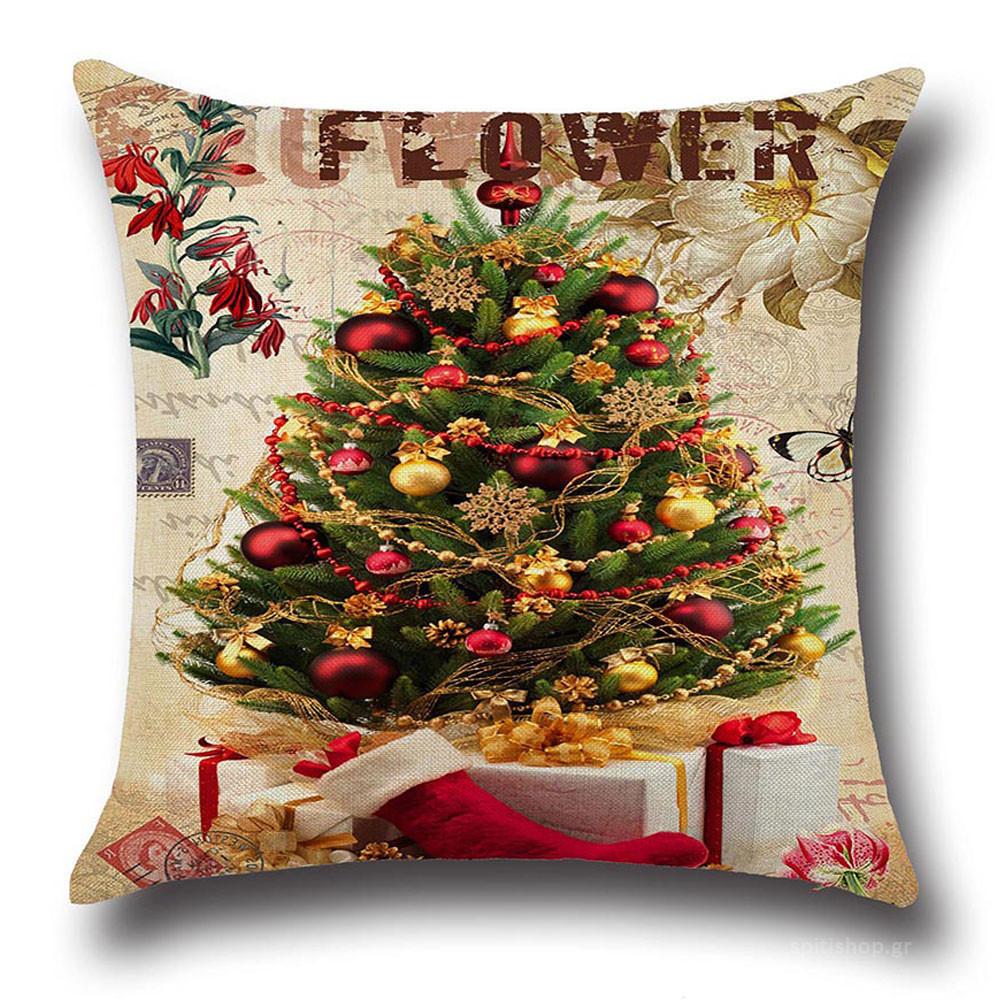 Χριστουγεννιάτικο Μαξιλάρι Viopros Christmas Time 250 home   χριστουγεννιάτικα   χριστουγεννιάτικα μαξιλάρια