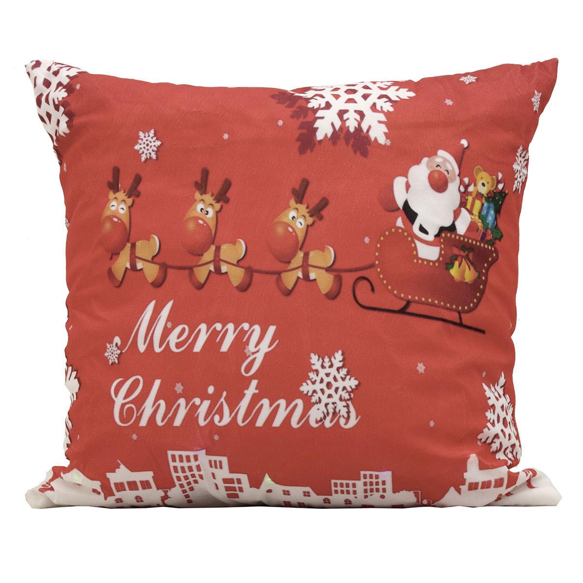 Χριστουγεννιάτικο Μαξιλάρι Viopros Led 310 home   χριστουγεννιάτικα   χριστουγεννιάτικα μαξιλάρια
