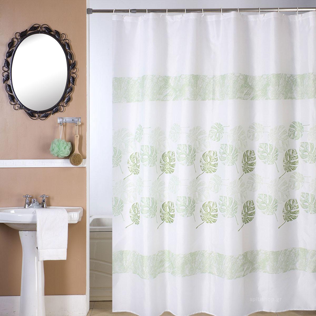 Κουρτίνα Μπάνιου (180×180) Viopros Τρόπικ