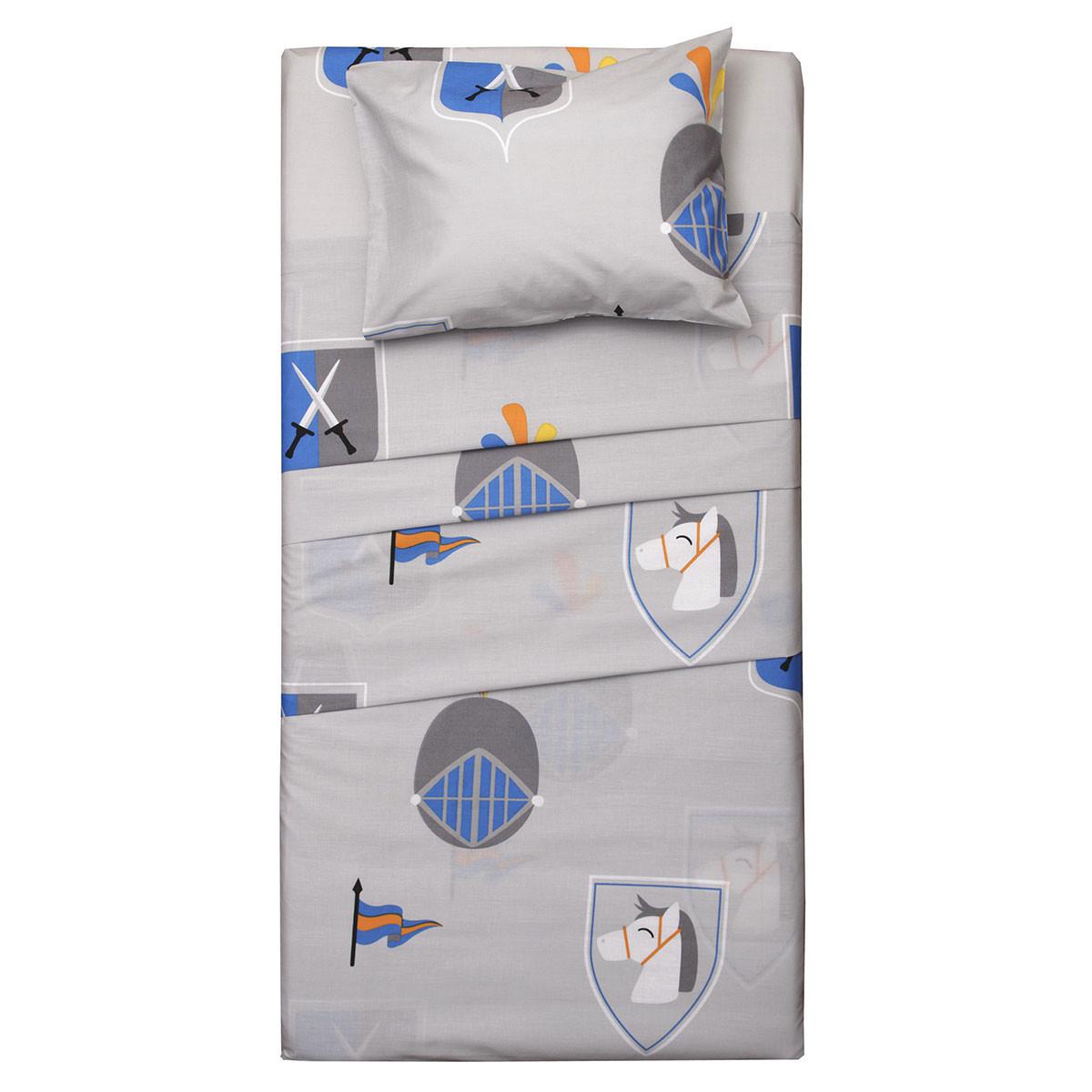 Παπλωματοθήκη Μονή (Σετ) Viopros Kids Cotton Έκτορ