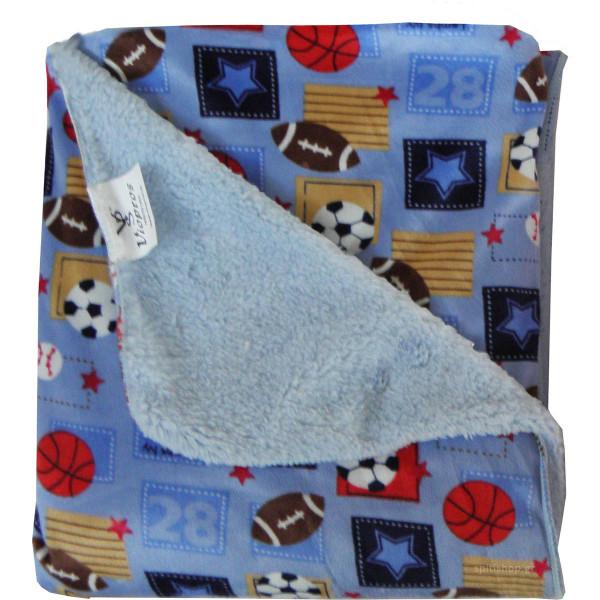 Κουβέρτα Fleece Κούνιας Με Γουνάκι Viopros Σχ 72