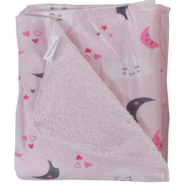 Κουβέρτα Fleece Αγκαλιάς Με Γουνάκι Viopros Σχ 75