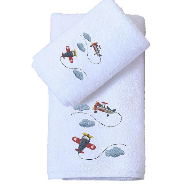 Παιδικές Πετσέτες (Σετ 2τμχ) Viopros Αεροπλανάκια