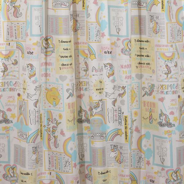 Παιδική Κουρτίνα (140x270) Με Τρέσα Viopros Μονόκερος