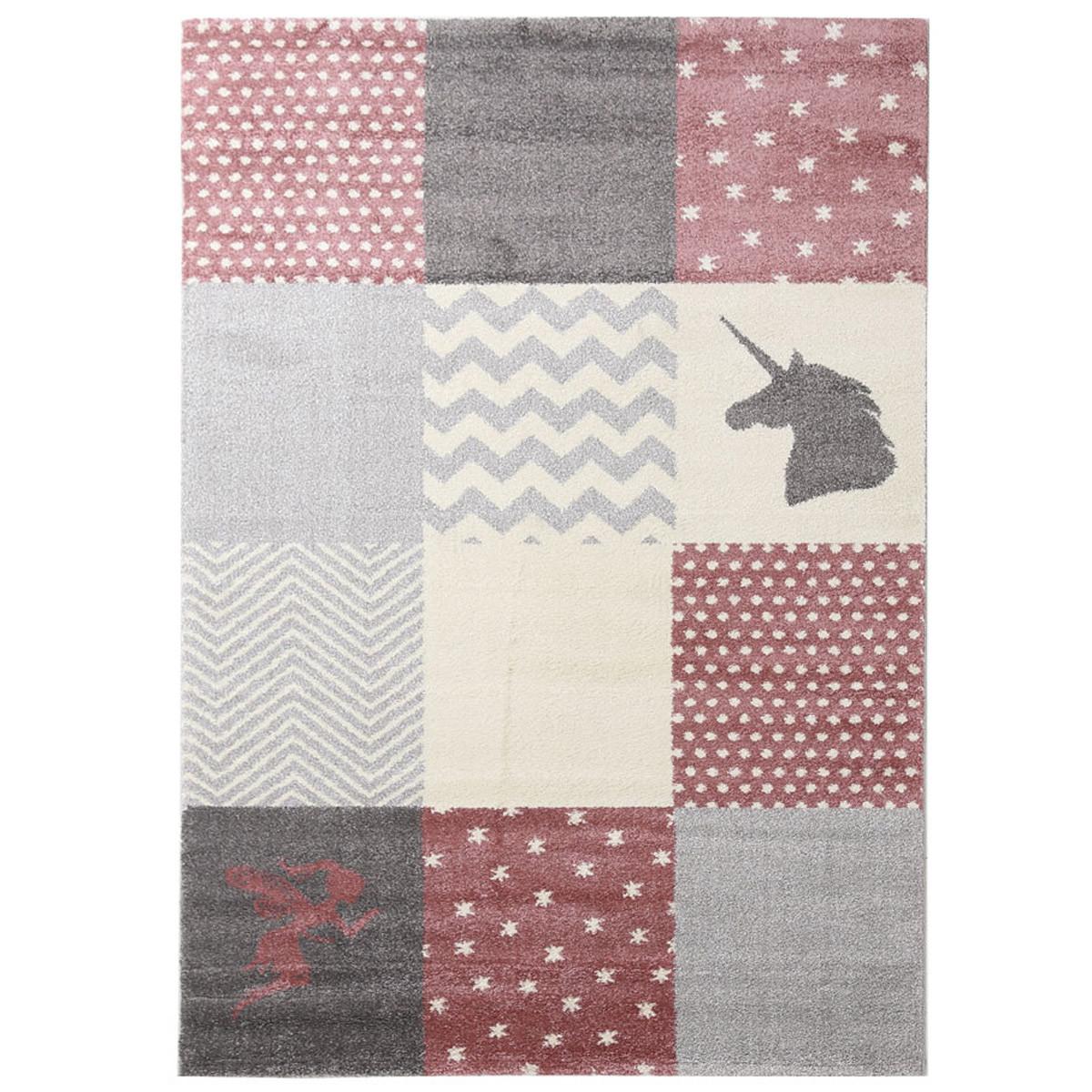 Παιδικό Χαλί (160x230) Royal Carpets Dream Taza 2 Pink Grey