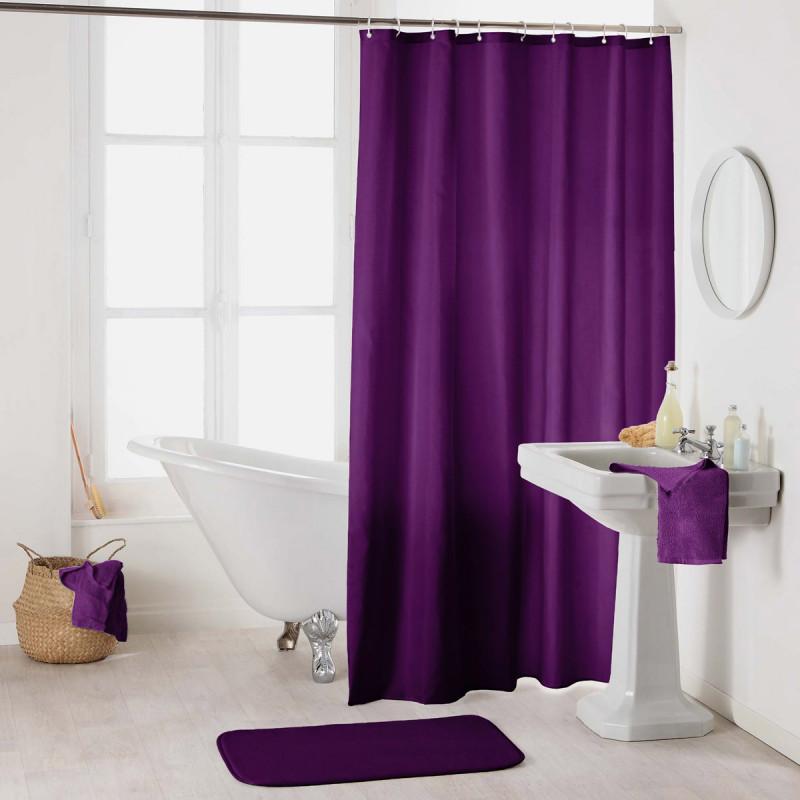 Κουρτίνα Μπάνιου (180x200) L-C Essencia Prune 1800700
