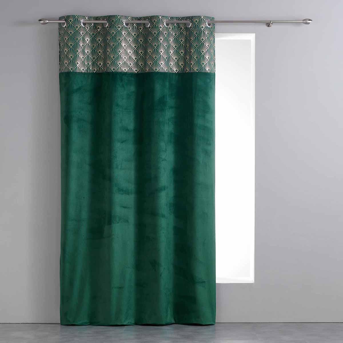 Κουρτίνα (140x240) Με Τρουκς Graphigold Vert 1608037