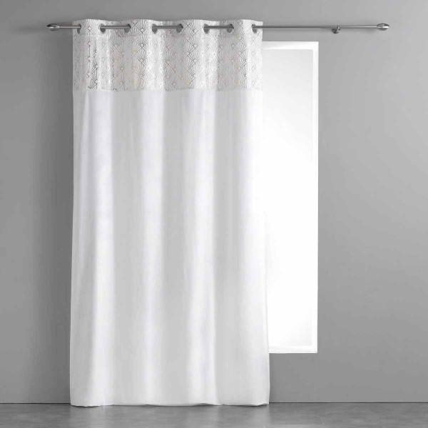 Κουρτίνα (140x240) Με Τρουκς Graphigold Blanc 1608038