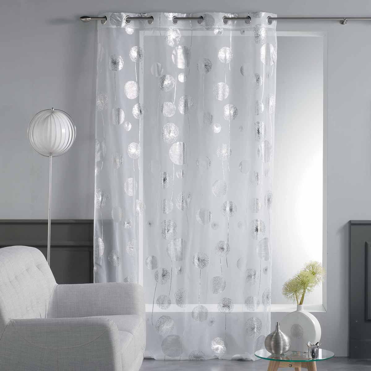 Κουρτίνα (140×240) Με Τρουκς Tinette Voilage Blanc 1625809