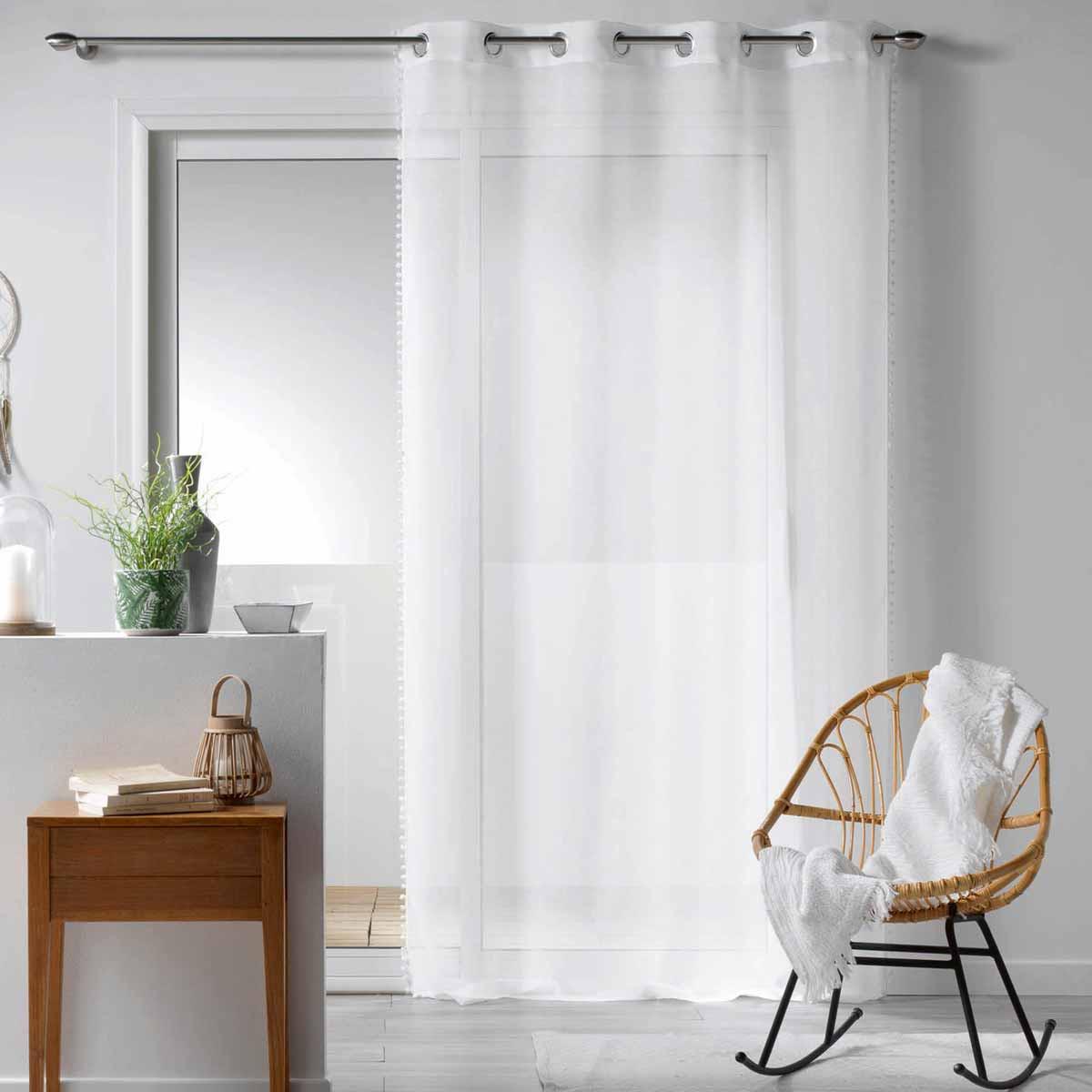 Κουρτίνα (140×240) Με Τρουκς Galoni Blanc 1625854