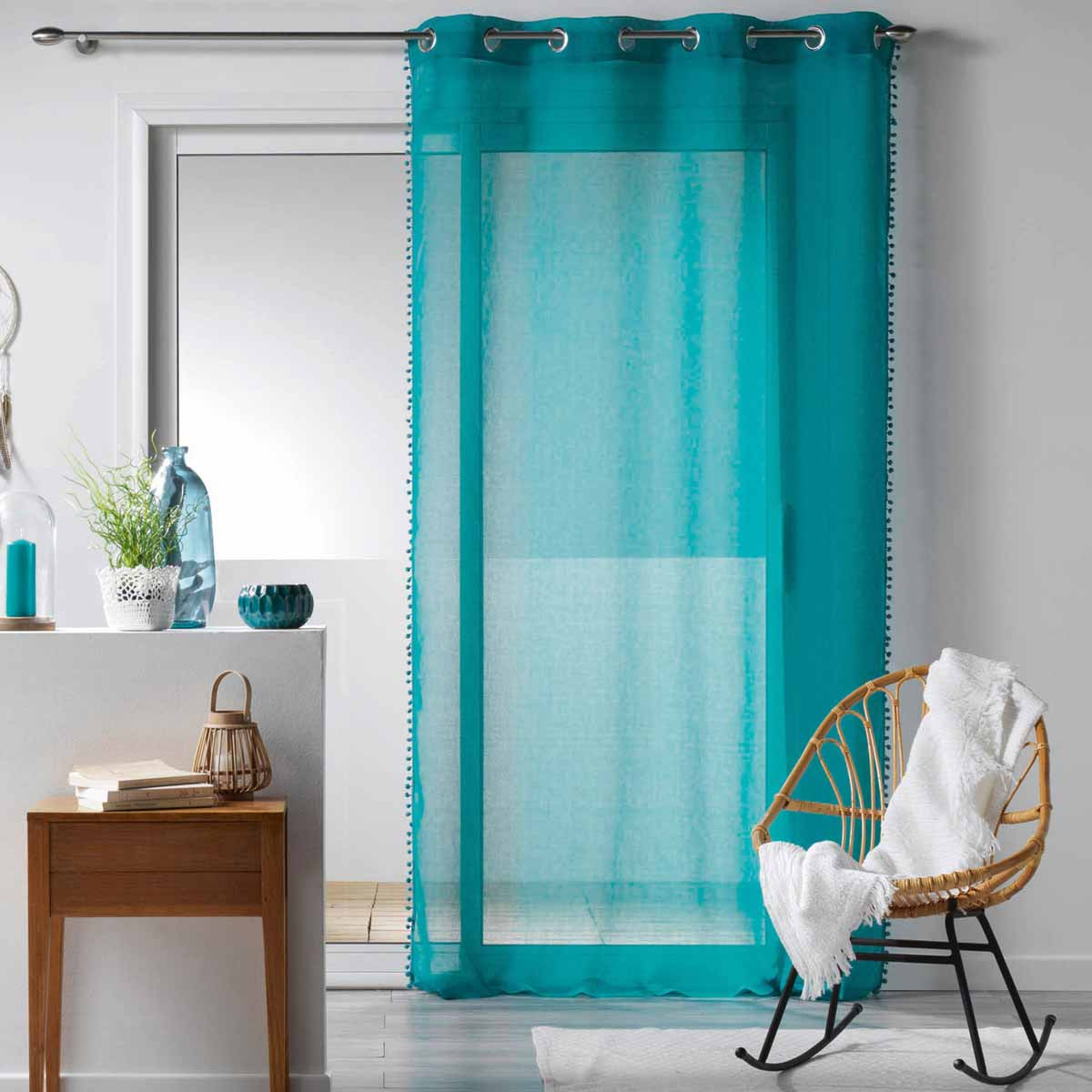 Κουρτίνα (140x240) Με Τρουκς Galoni Blue 1625857