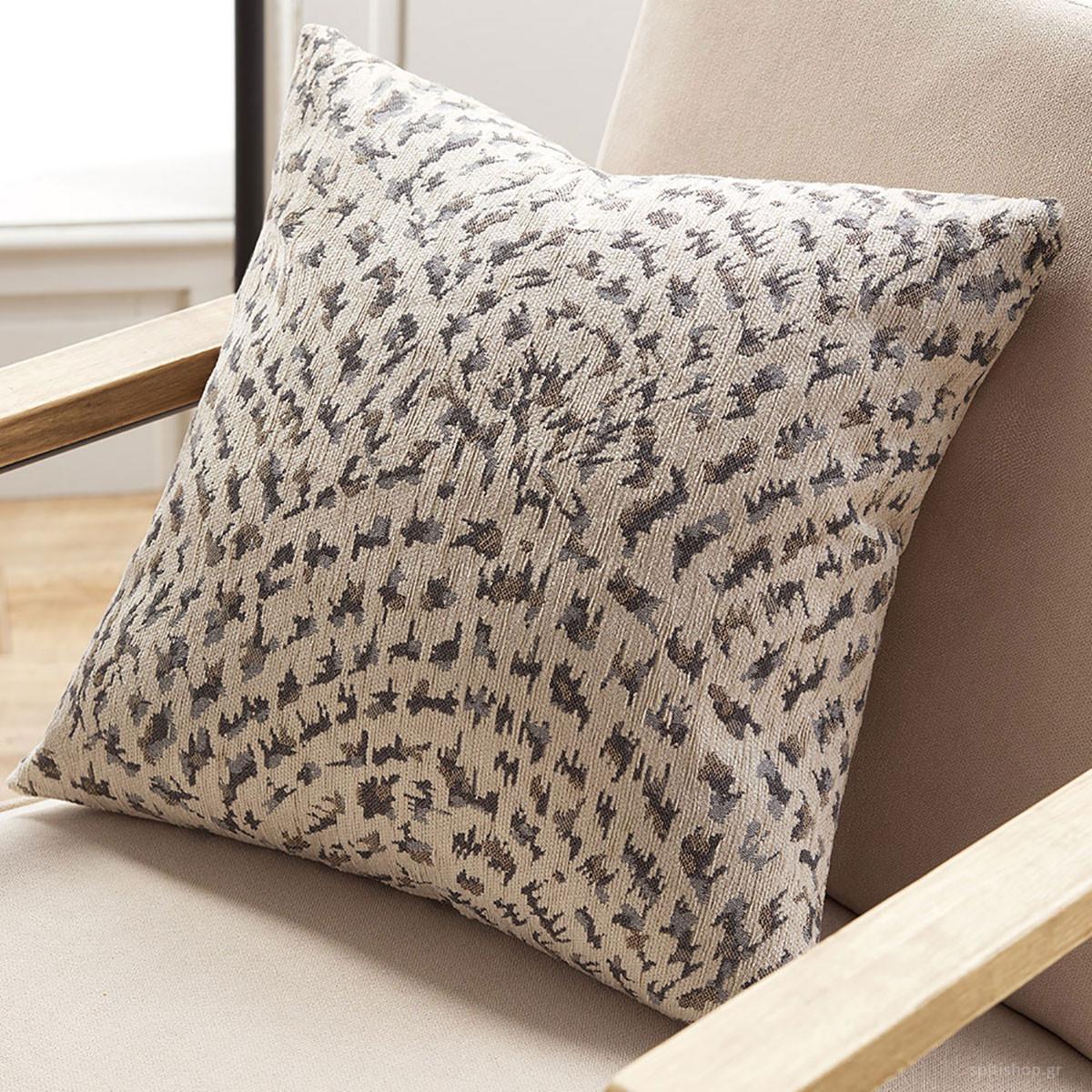 Διακοσμητική Μαξιλαροθήκη Gofis Home Ventalia Grey 7223/15