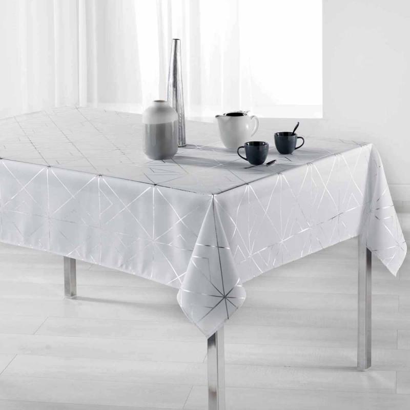 Αλέκιαστο Τραπεζομάντηλο (150x240) L-C Quadris Blanc 1722280