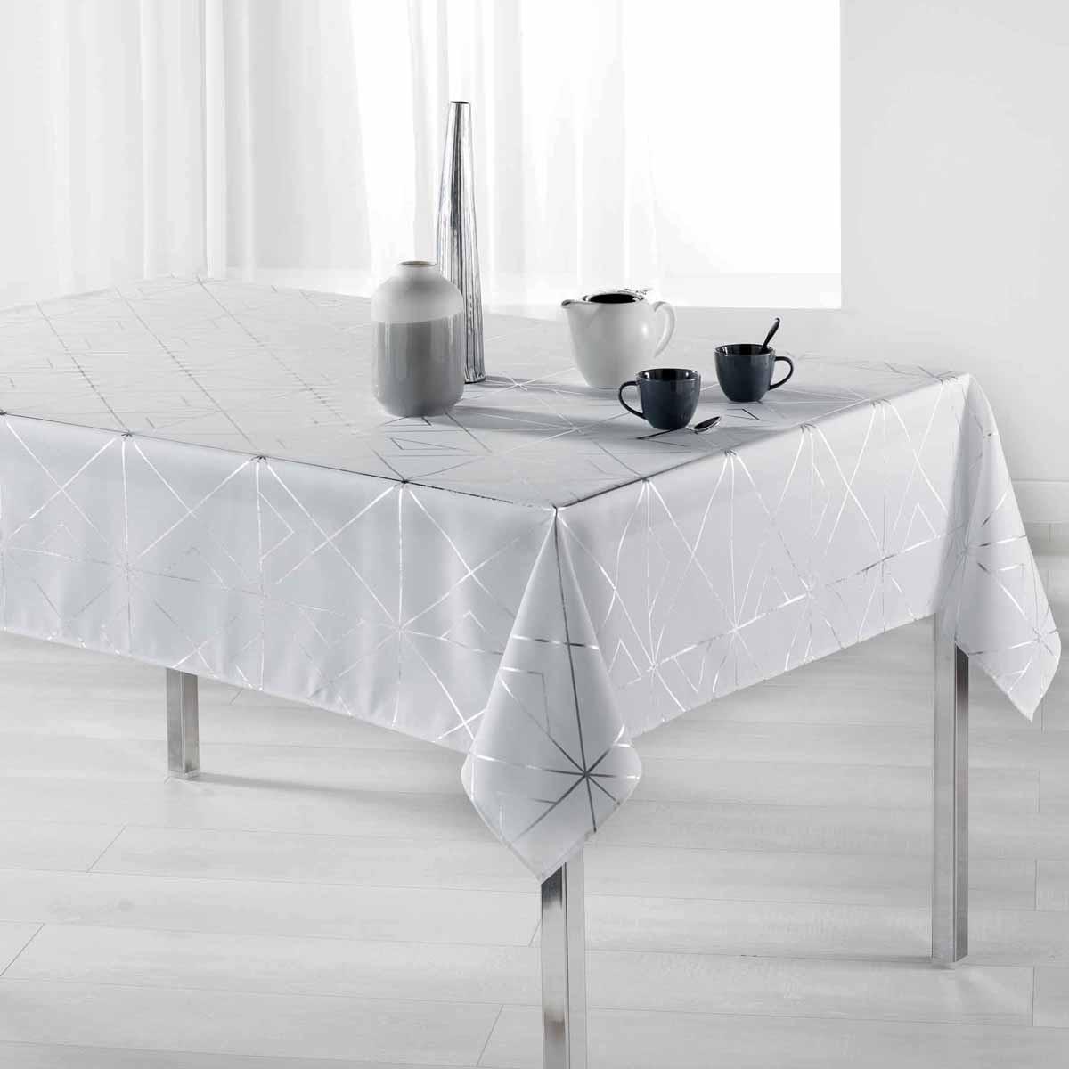 Αλέκιαστο Τραπεζομάντηλο (150×240) L-C Quadris Blanc 1722280