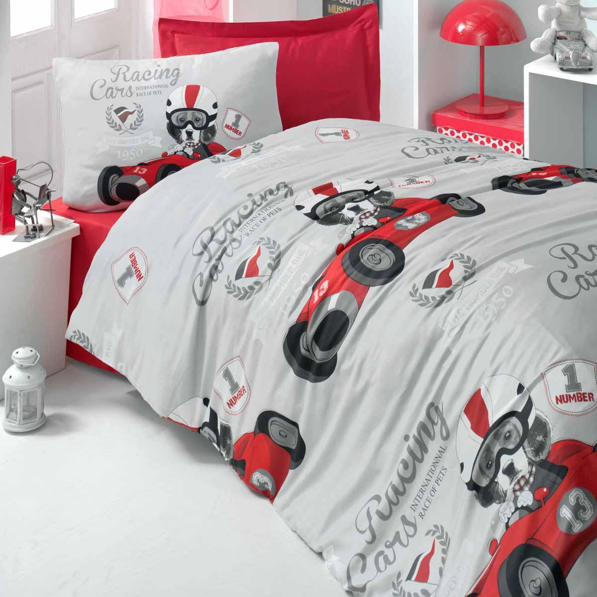 Παπλωματοθήκη Μονή (Σετ) Ravelia Kids Racing Cars